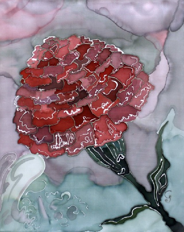 Carnation original painting by Gabrielė Prišmantaitė. Other technique