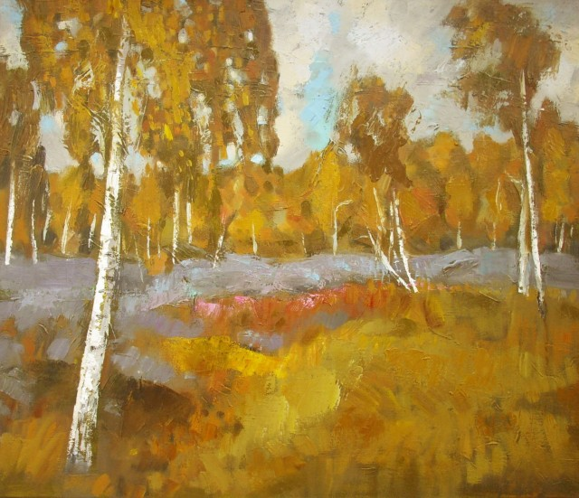 Autumn Landscape original painting by Vidmantas Jažauskas. Landscapes