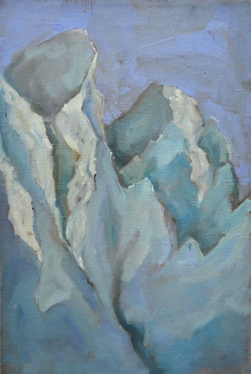 Glacier original painting by Karolina Latvytė. Landscapes