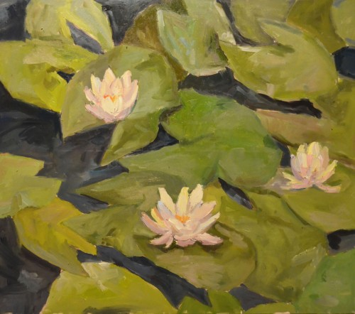 Lillies original painting by Karolina Latvytė. Flowers