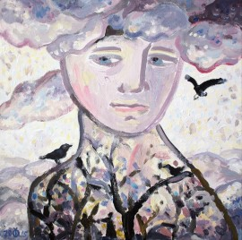 Angel of Winter original painting by Dalia Čistovaitė. Fantastic