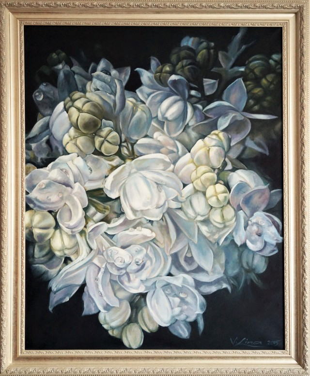 Lilacs original painting by Lina Videckienė. Flowers