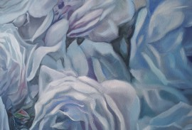 Blue Blue original painting by Lina Videckienė. Flowers