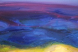 The Sea in Violet original painting by Kristina Čivilytė. Abstract Paintings
