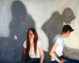 Four original painting by Gabrielė Tamoliūnaitė. Paintings With People