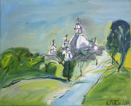 Monastery of Pažaislis original painting by Gitas Markutis. For offices