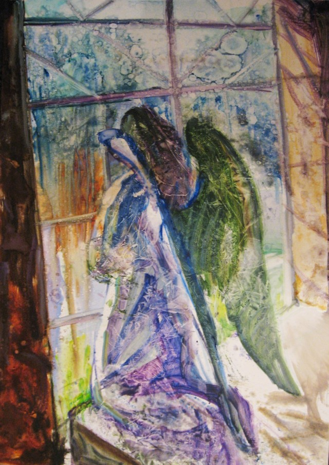 Waiting for Angel original painting by Vilma Vasiliauskaitė. Fantastic