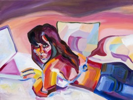 In Bed original painting by Ieva Bartuškaitė. Paintings With People