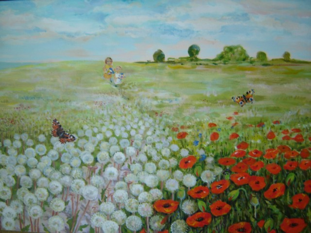 Summer original painting by Jolanta Grigienė. Landscapes
