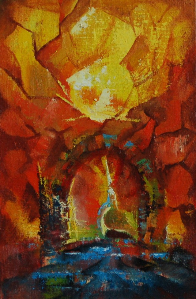 Arch original painting by Jonas Dailidėnas. Fantastic