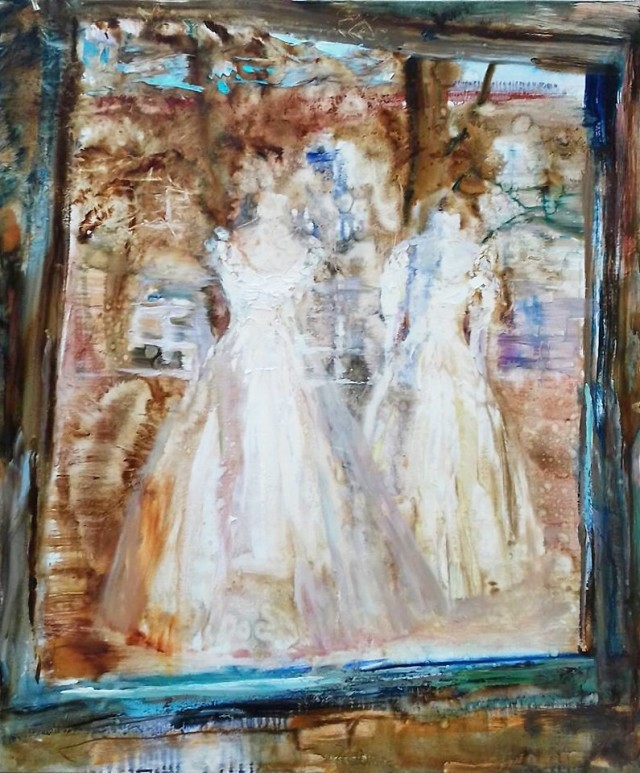 Dresses original painting by Vilma Vasiliauskaitė. For offices