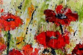 Poppy Fields original painting by Iveta Utakytė. Flowers