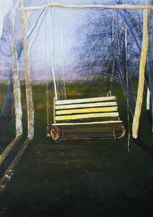 Swing 1 original painting by Iveta Utakytė. Other technique