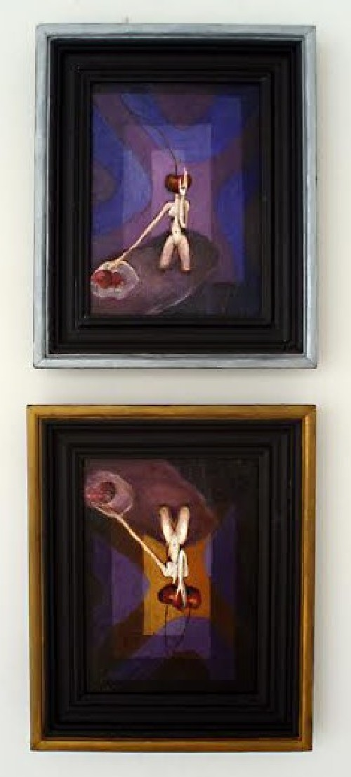 Vision (diptych) original painting by Theresa Van Cherry. For offices