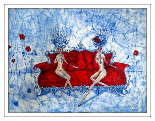 Emptiness original painting by Theresa Van Cherry. For offices