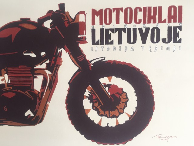 Moto Lithuania original painting by Rimas Bružas. Acrylic painting