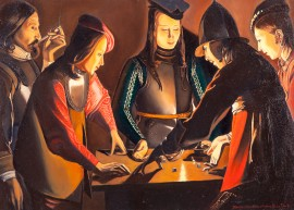 "George de La Tour ""Dice Players"" kopija"