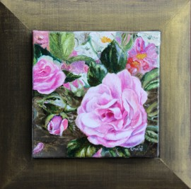 Roses original painting by Onutė Juškienė. For living room