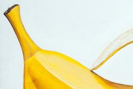 Banana original painting by Vincas Bareikis. For the kitchen