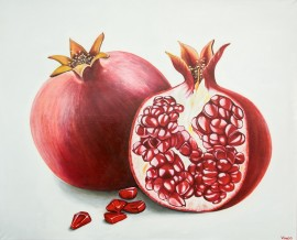 Pomegranates original painting by Vincas Bareikis. For the kitchen