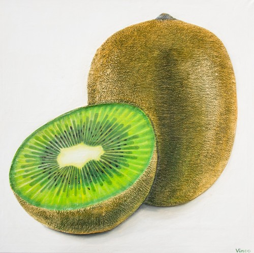 Kiwi original painting by Vincas Bareikis. For the kitchen