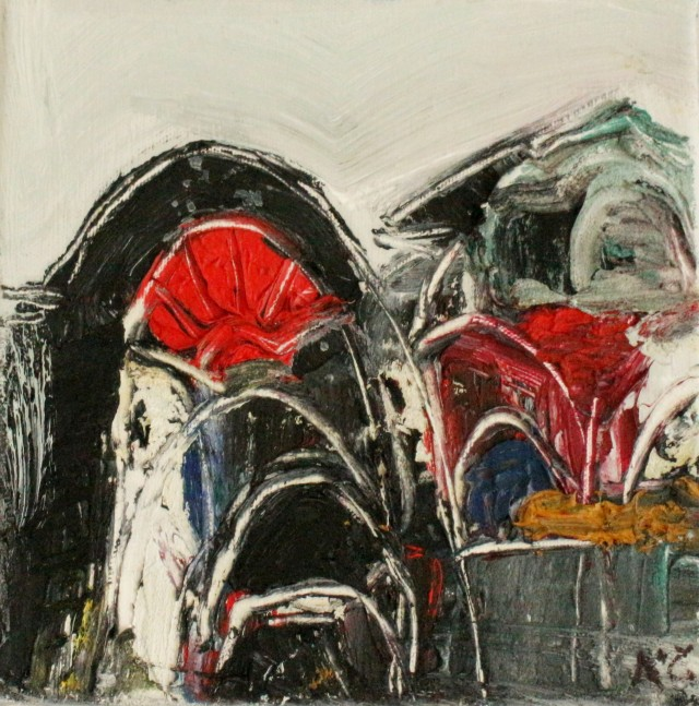 Winter Arches original painting by Kristina Čivilytė. Abstract Paintings