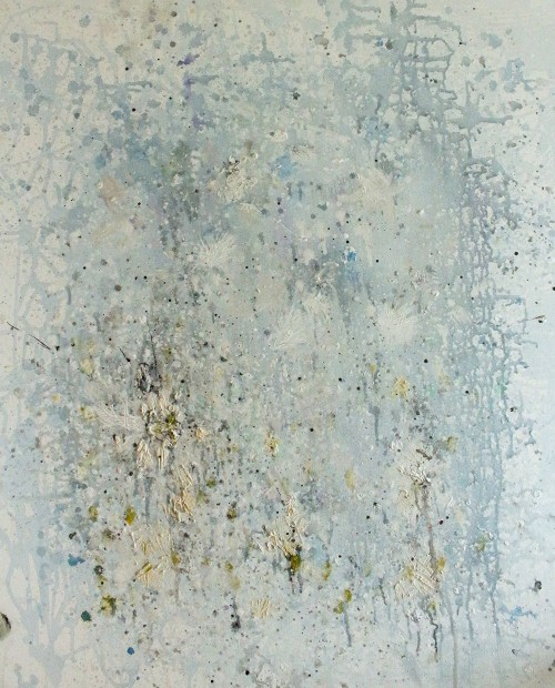 Winter Flowers original painting by Kristina Čivilytė. Abstract Paintings
