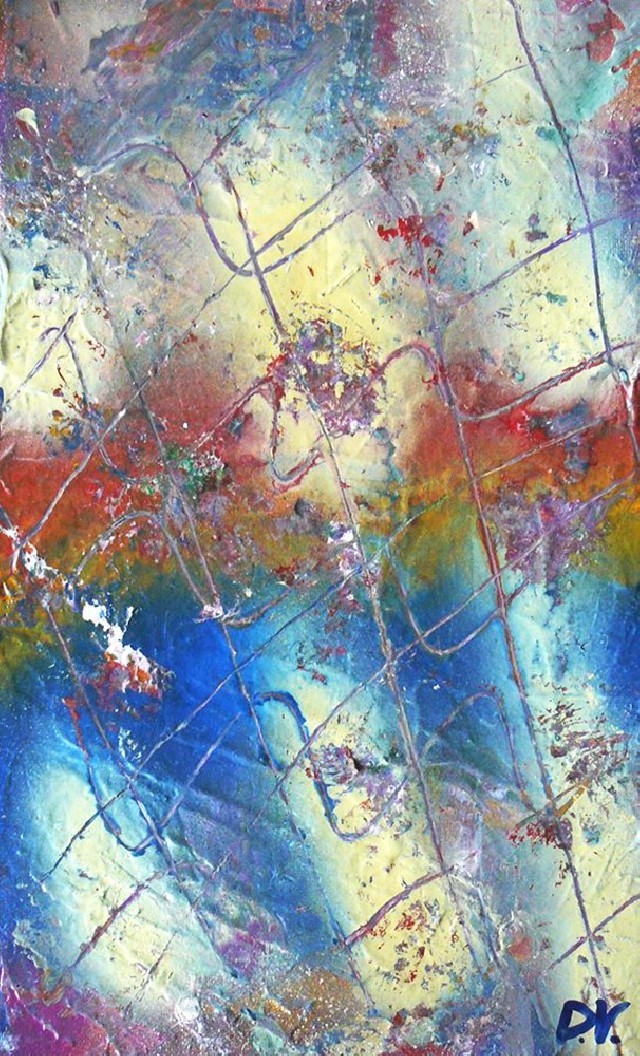 Compatibility original painting by Dalius Virbickas. Abstract Paintings