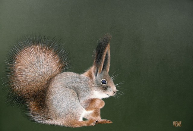 Sciurus original painting by Laima Žeimienė-Vienis. For offices