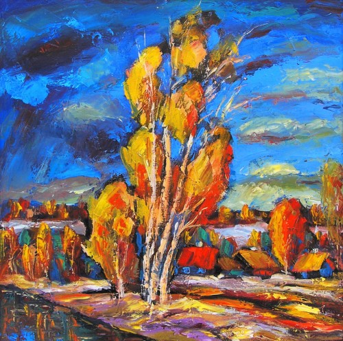 Autumn 6 original painting by Leonardas Černiauskas. Oil painting