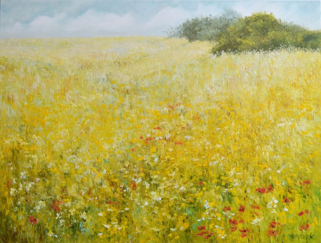 Summer original painting by Danutė Virbickienė. Oil painting