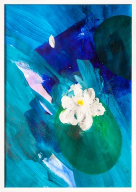 Lily original painting by Gabrielius Mackevičius. For offices