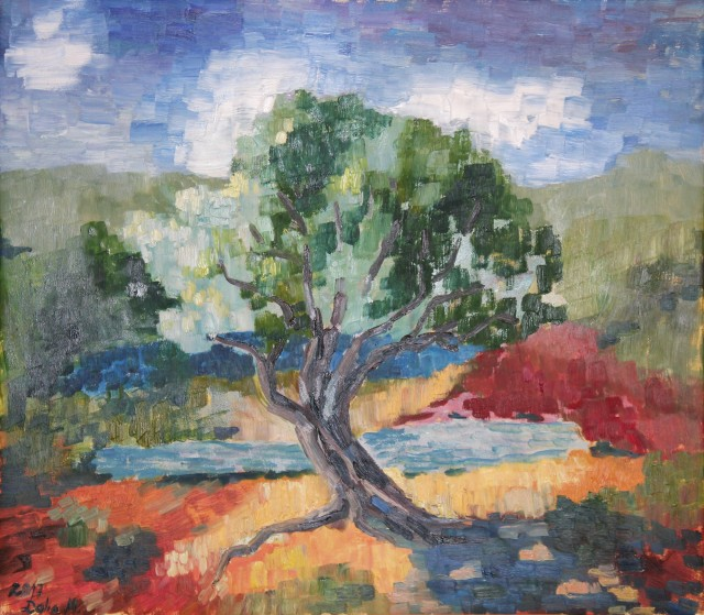 Olive Tree original painting by Dalia Motiejūnienė. For large spaces