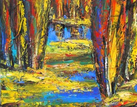 Colours of Autumn original painting by Leonardas Černiauskas. For living room