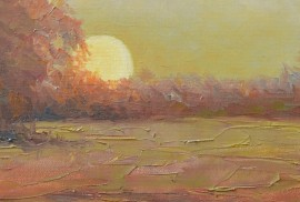 Sunrise original painting by Rimantas Virbickas. For living room