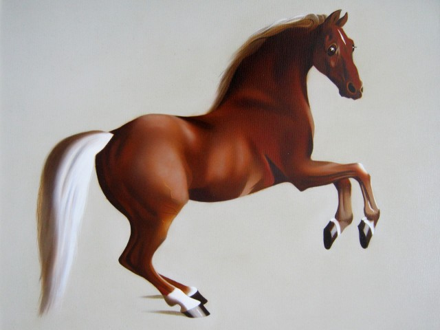 Whistlejacket original painting by Andrej Česiulevič. Animalistic Paintings