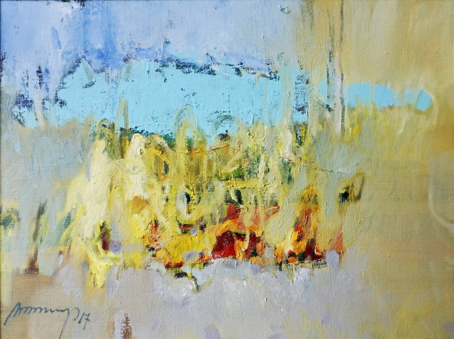 Light original painting by Ramūnas Dagys. Abstract Paintings