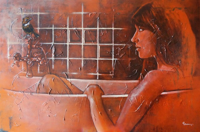 Guest original painting by Gintas Banys. Paintings With People