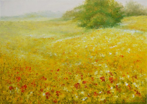 From Spring to Summer original painting by Danutė Virbickienė. Landscapes