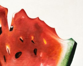 Watermelon original painting by Vincas Bareikis. For the kitchen