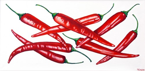 Chili Peppers original painting by Vincas Bareikis. For the kitchen