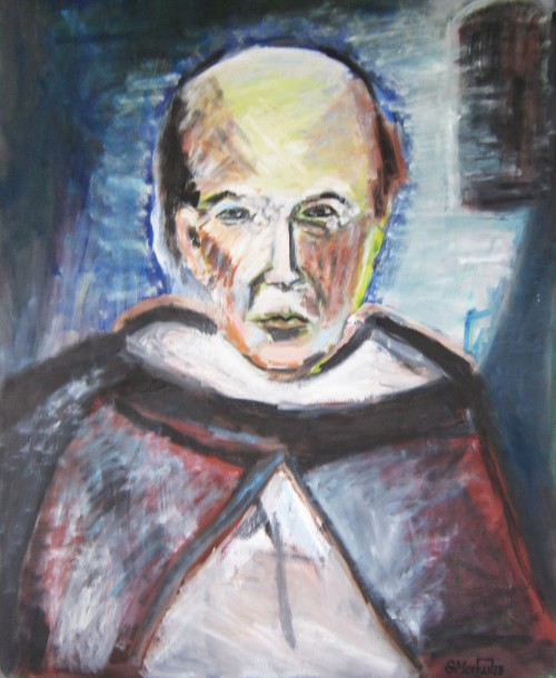 Monk from Montecassino original painting by Gitas Markutis. For your working place