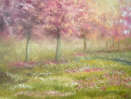 Spring original painting by Viktorija Labinaitė. Calm paintings