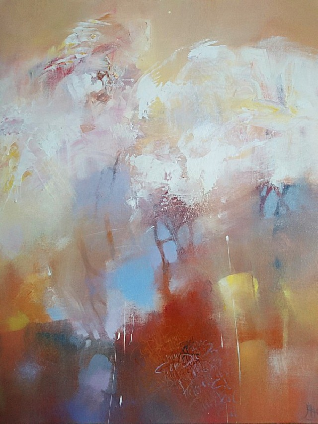 The Cherry Orchard original painting by Aistė Jurgilaitė. Abstract Paintings