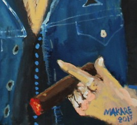 Lemmy original painting by Andrius Makarevičius. Paintings With People
