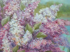 Lilacs II original painting by Viktorija Labinaitė. Talk Of Flowers