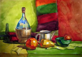 Still Life original painting by Egidijus Kurapka. Watercolor painting