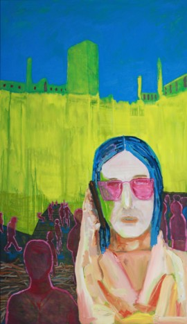 Conversation on the Phone original painting by Andrius Makarevičius. Young And Talented