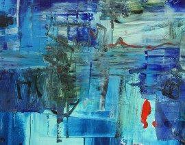BLUE original painting by Rasa Makaraitytė-Ra. Abstract Paintings
