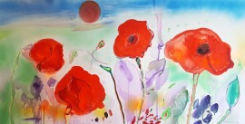 Poppies original painting by Arvydas Martinaitis. Flowers